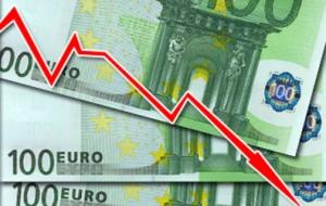 Евро впервые за неделю опустился ниже 57 рублей