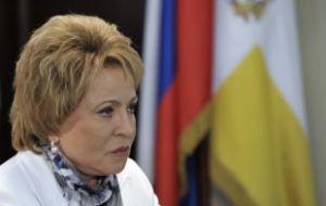 Совфед принимает необходимые антикризисные меры — Матвиенко
