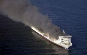 С горящего парома у берегов Греции эвакуированы 150 человек из 467