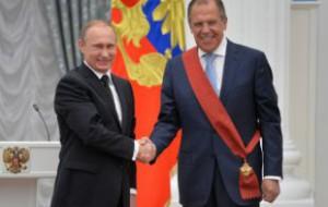 Путин вручил Лаврову орден «За заслуги перед Отечеством» первой степени