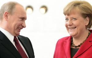 Путин проводит встречу с Меркель в Париже