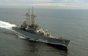 Ракетный эсминец США вышел из Черного моря