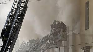 Пожарные проверяют информацию о новом задымлении в московском здании Минобороны