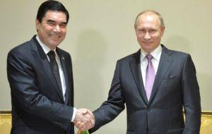 Путин встретится 1 ноября c президентом Туркменистана