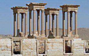 Боевики ИГИЛ разрушили античный тетрапилон в Пальмире