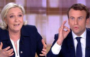 Марин Ле Пен и Эмманюэль Макрон провели важнейшие теледебаты