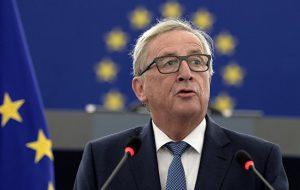 Юнкер не упомянул США как страну, с которой ЕС хотел бы вести торговлю