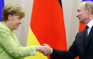 Владимир Путин поздравил Ангелу Меркель с успехом ее блока на выборах