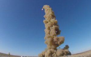 Обнародовано видео испытаний новой российской противоракеты