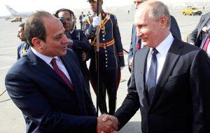 Лидеры России и Египта договорились возобновить авиасообщение Москва-Каир