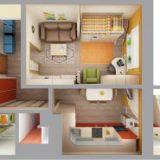 Как комфортно разместить семью в маленькой квартире