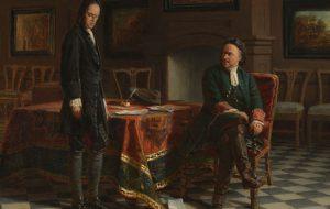 В «Михайловском» представили гравюру с изображением Петра Первого