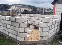 Как построить гараж из пеноблоков