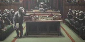 На торги выставлена работа Бэнкси «Выродившийся парламент»
