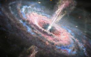 Ученые заметили квазарный ветер из далекой галактики