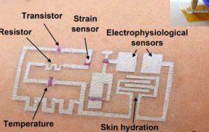 Биоинженеры научились «рисовать» электронные датчики на коже человека