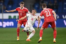 Национальная команда России по футболу во второй раз подряд сыграла вничью в матче Лиги наций