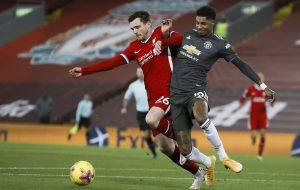В главном матче уикенда «Ливерпуль» сыграл вничью с «Манчестер Юнайтед»